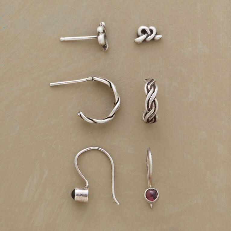 WHY KNOT EARRING TRIO