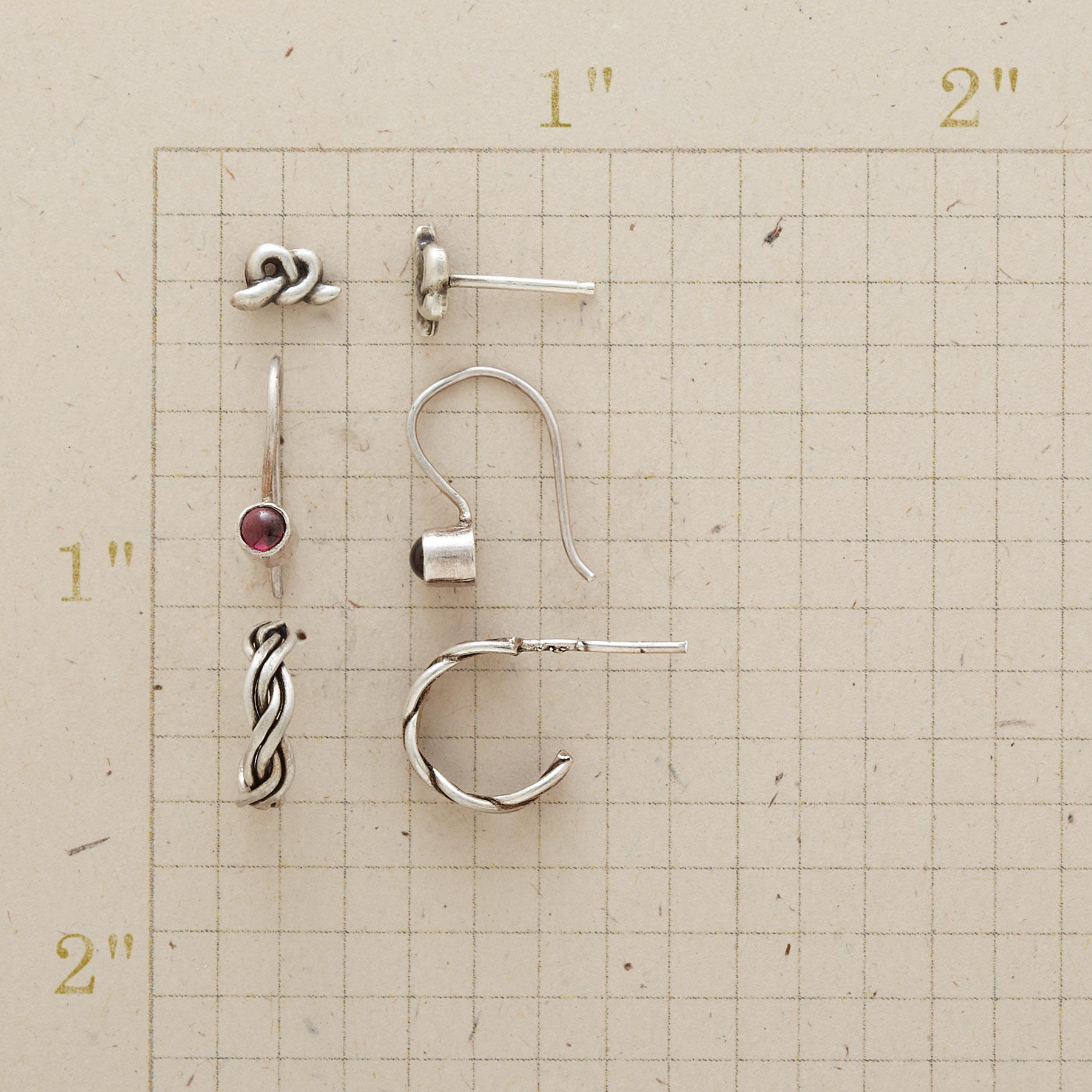 WHY KNOT EARRING TRIO: View 2
