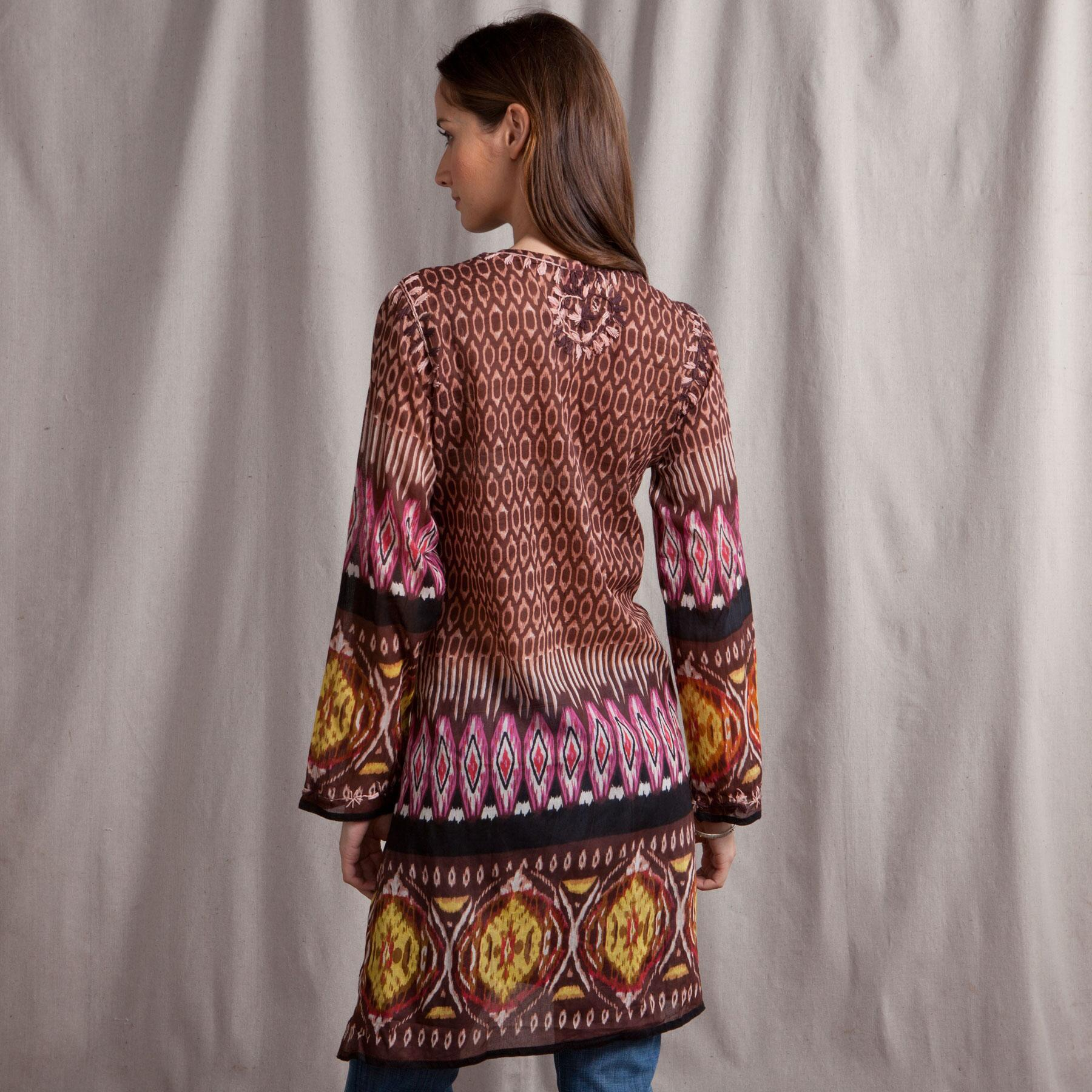 EMBROIDERED TRIBAL PRINT TUNIC: View 2