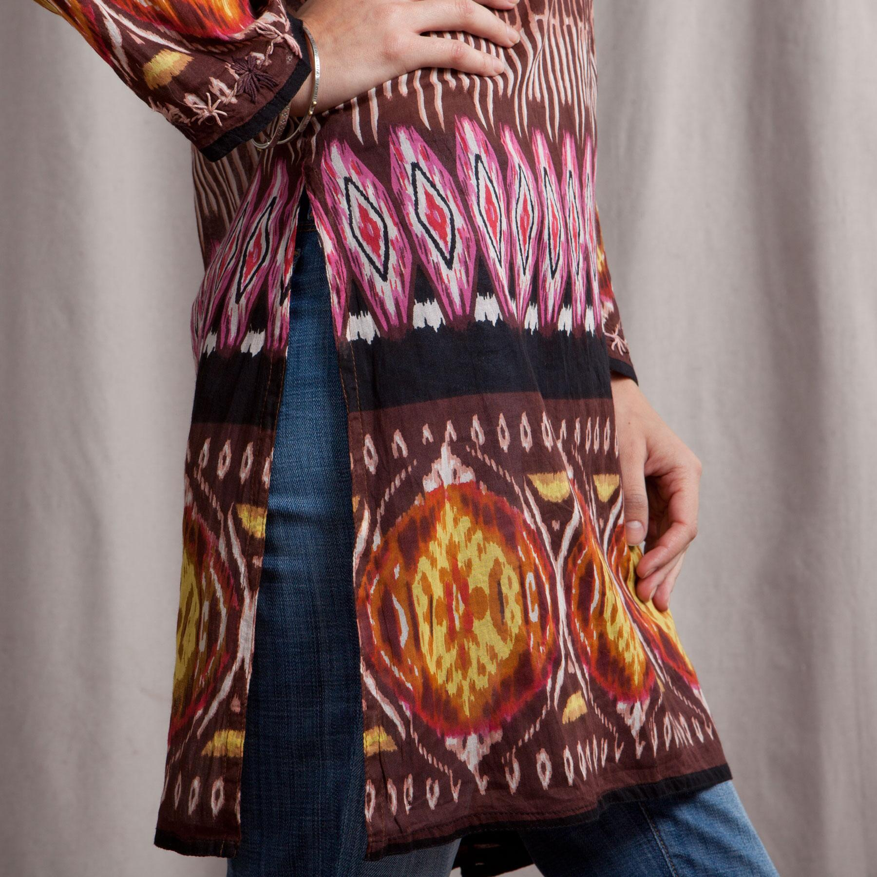 EMBROIDERED TRIBAL PRINT TUNIC: View 4