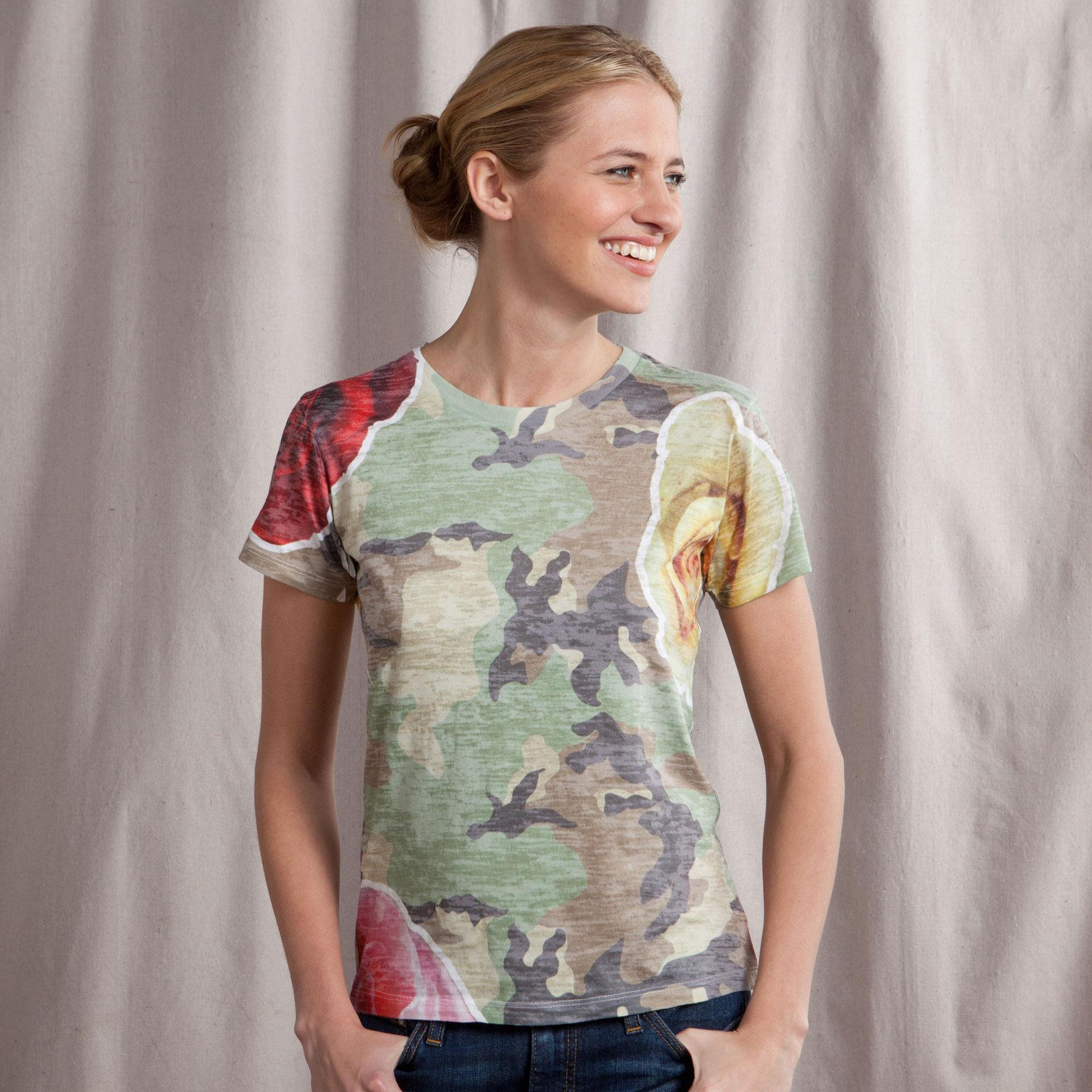 CAMOESQUE BURNOUT TEE: View 1