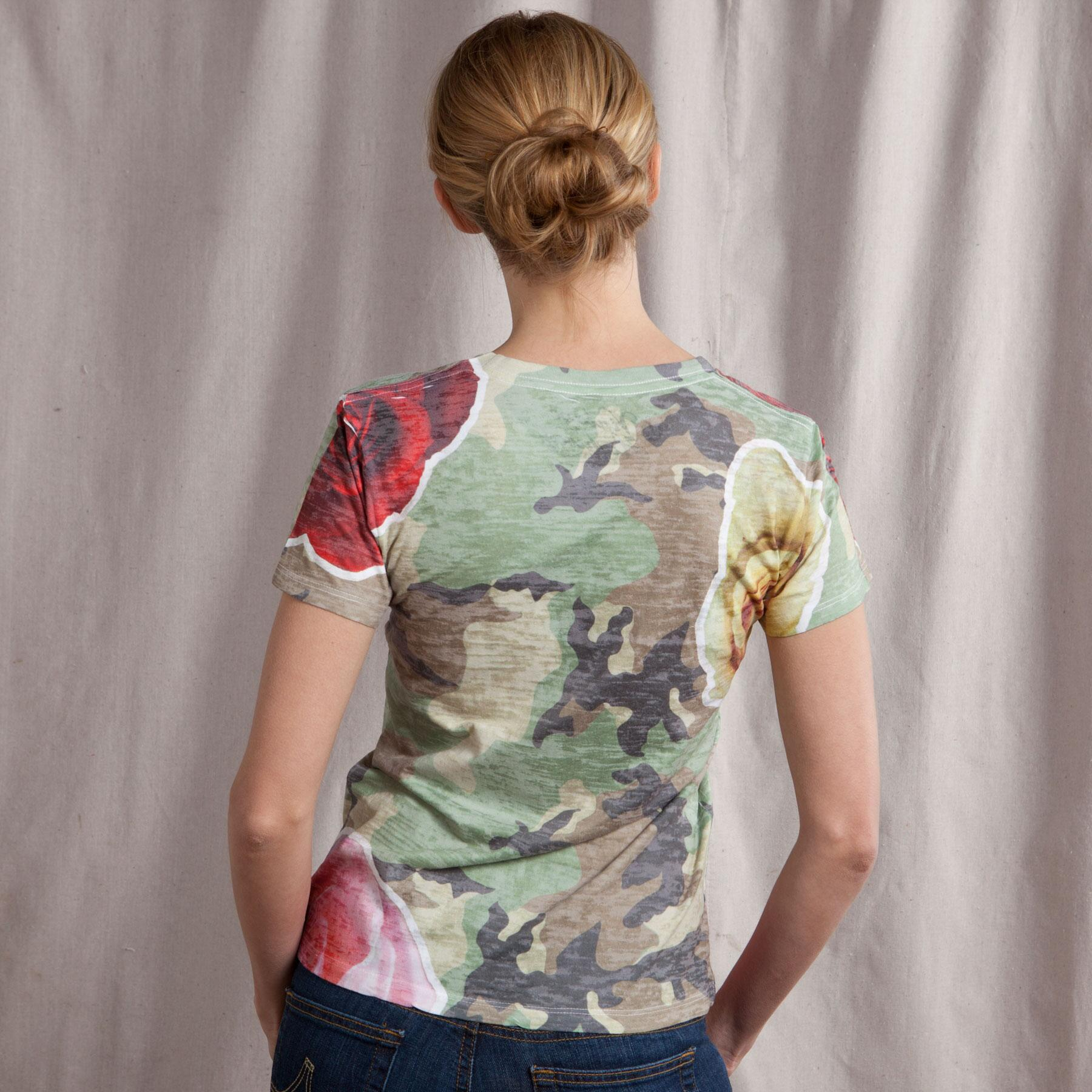 CAMOESQUE BURNOUT TEE: View 2