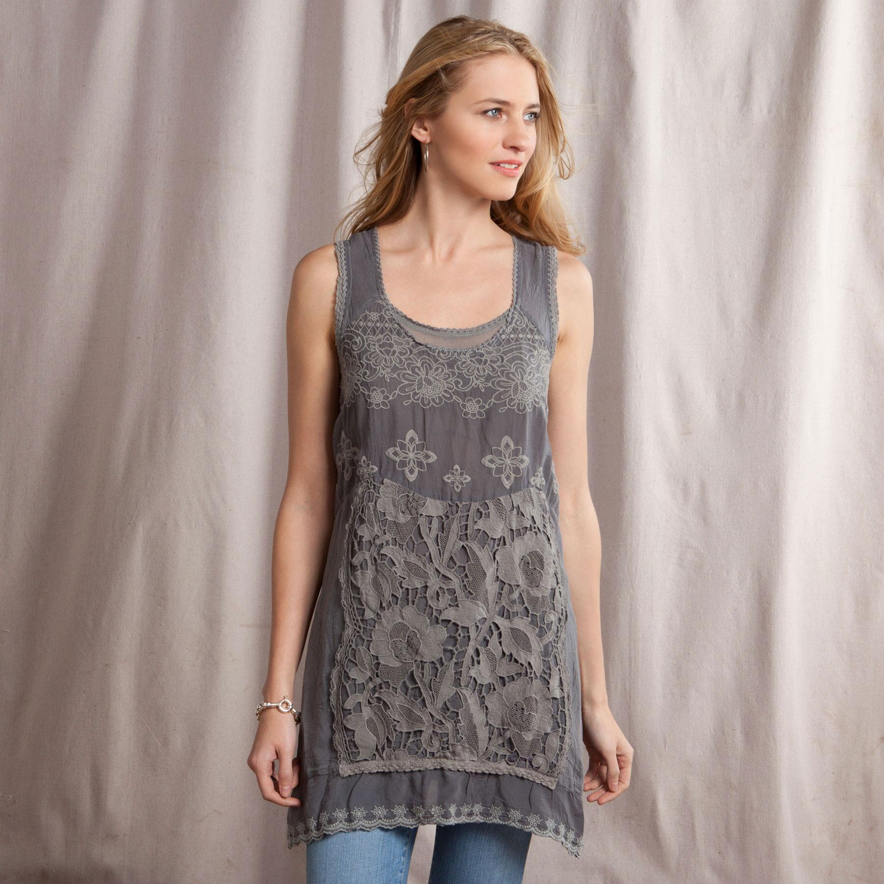 GRACIE LACE TUNIC: View 1