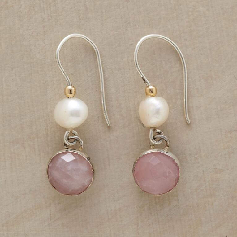 BLUSHING PINK AND PEARL EARRINGS