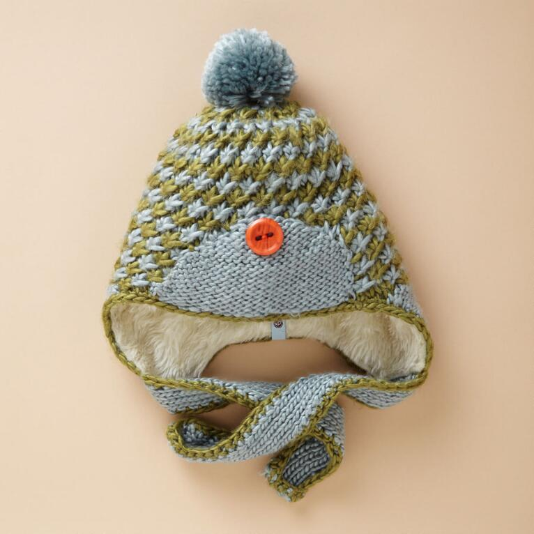 CHECKERESQUE KNIT HAT