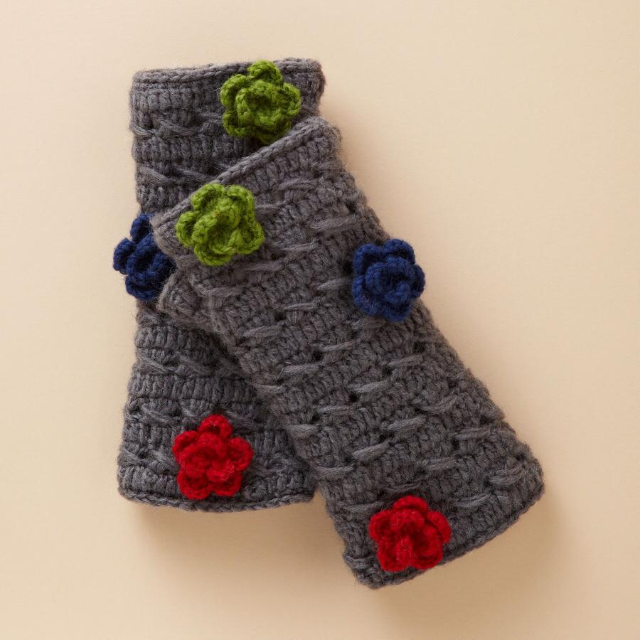 FLOWERING FINGERLESS GLOVES