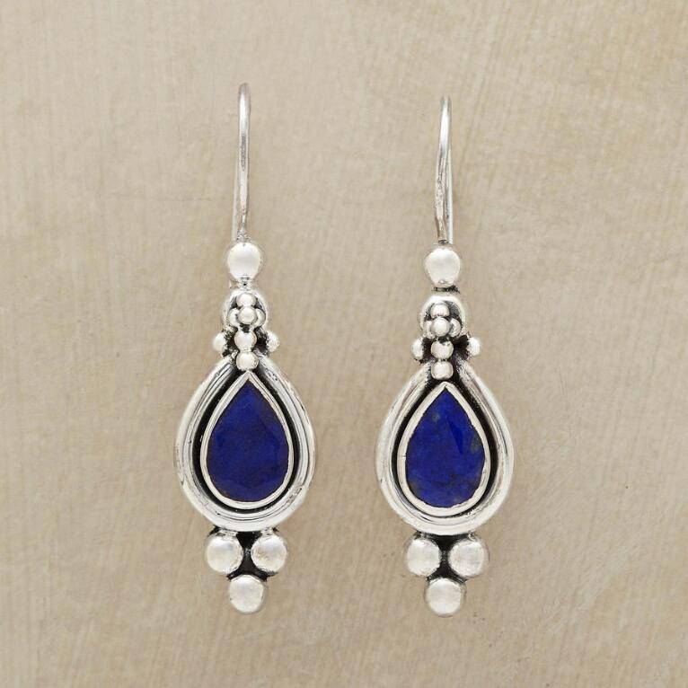 gold earrings drop lazuli jewellery product lapis on lo pearl clip earring melissa front pebble capri