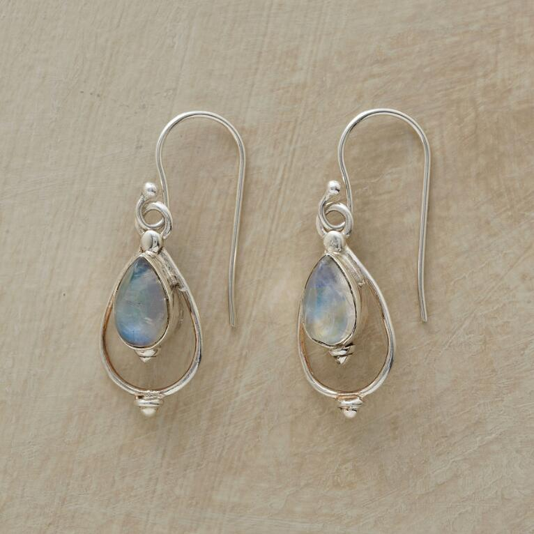 MOONSTONE LANTERN EARRINGS