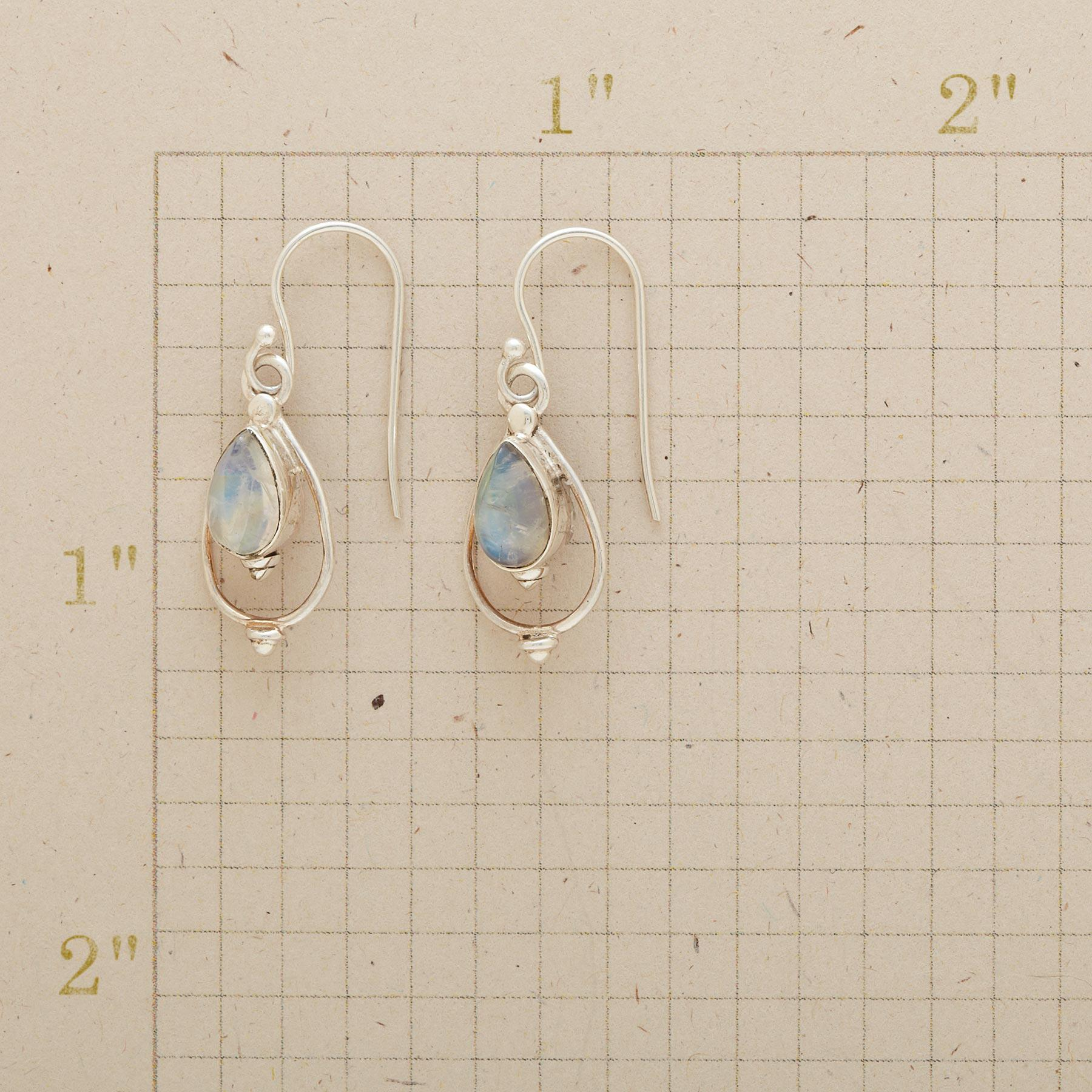 MOONSTONE LANTERN EARRINGS: View 2