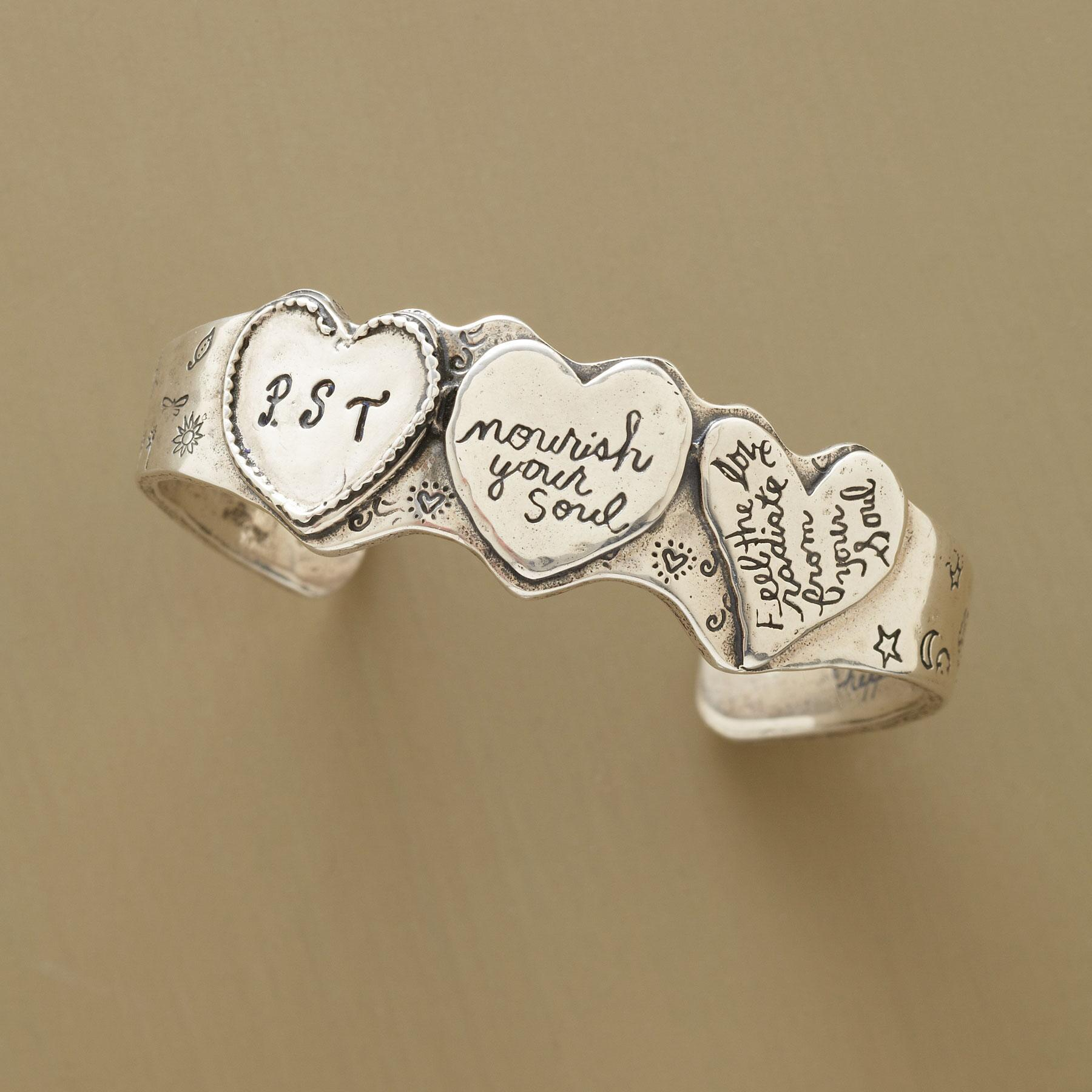PERSONALIZED THREE-HEART CUFF: View 1