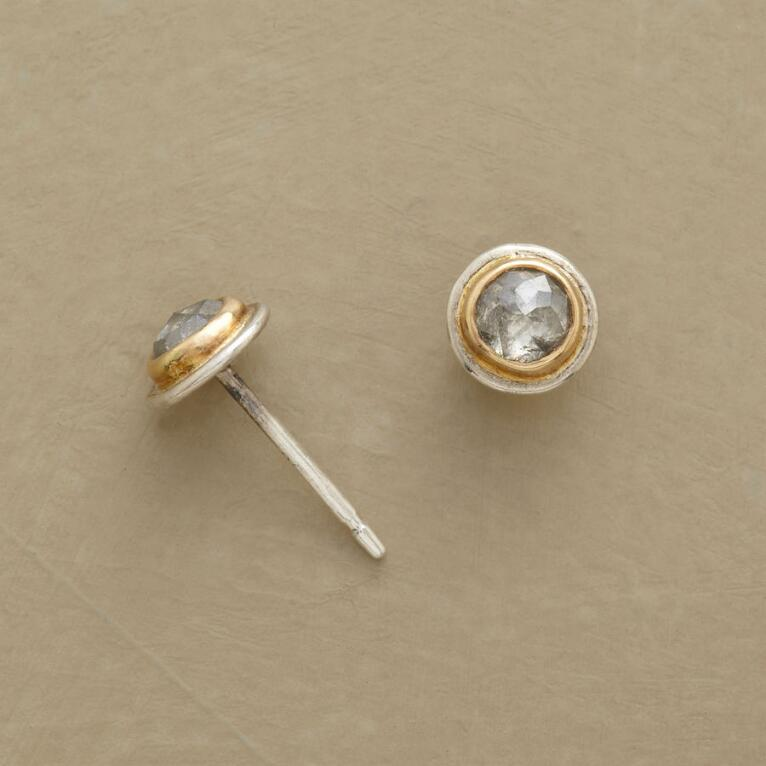 GRAY DIAMOND EARRINGS