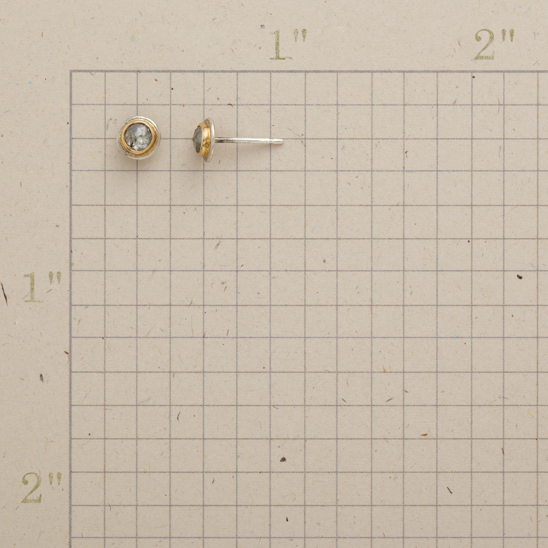 GRAY DIAMOND EARRINGS: View 2