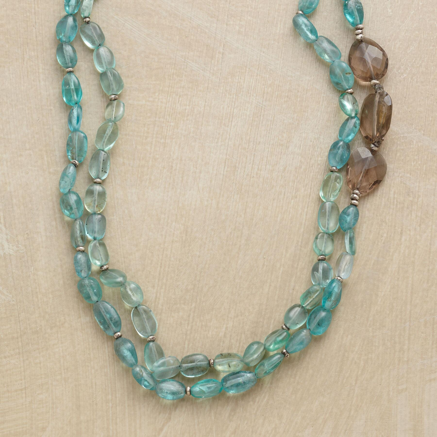 TWO BLUE NECKLACE: View 1