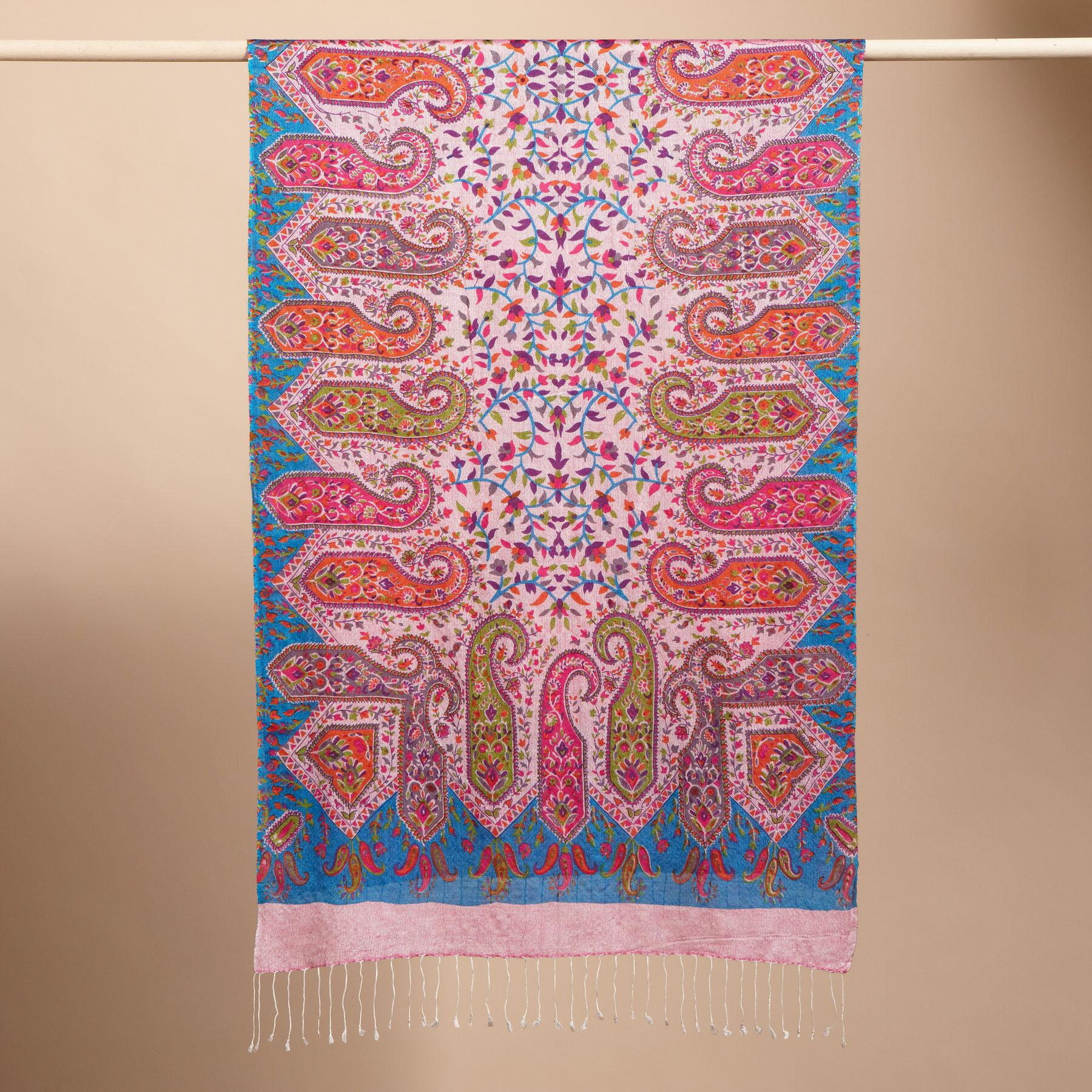 PINK PAISLEY SCARF: View 2