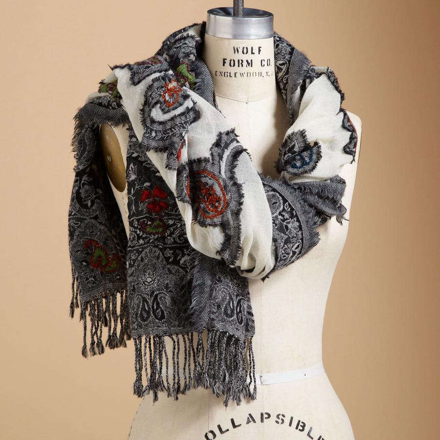 MARITA EMBROIDERED SCARF