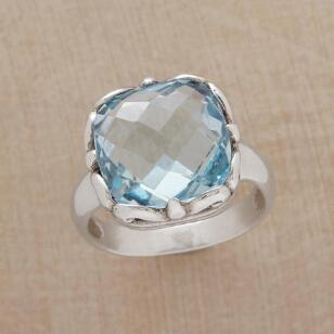BLUE BOMBSHELL RING