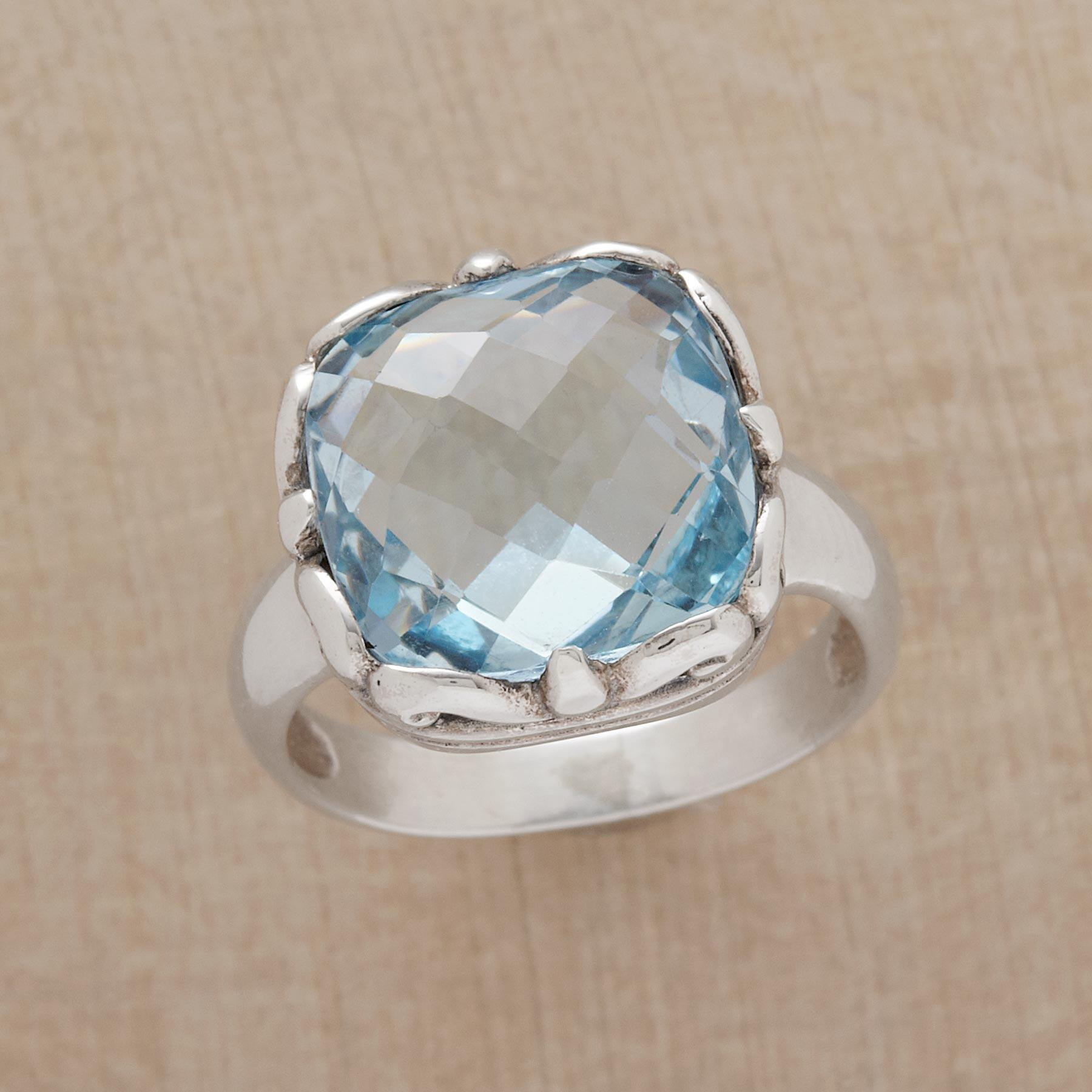 BLUE BOMBSHELL RING: View 1