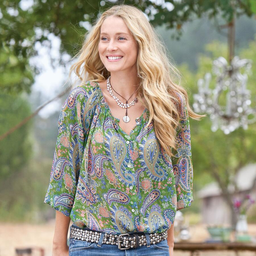GIVERNY SILK BLOUSE
