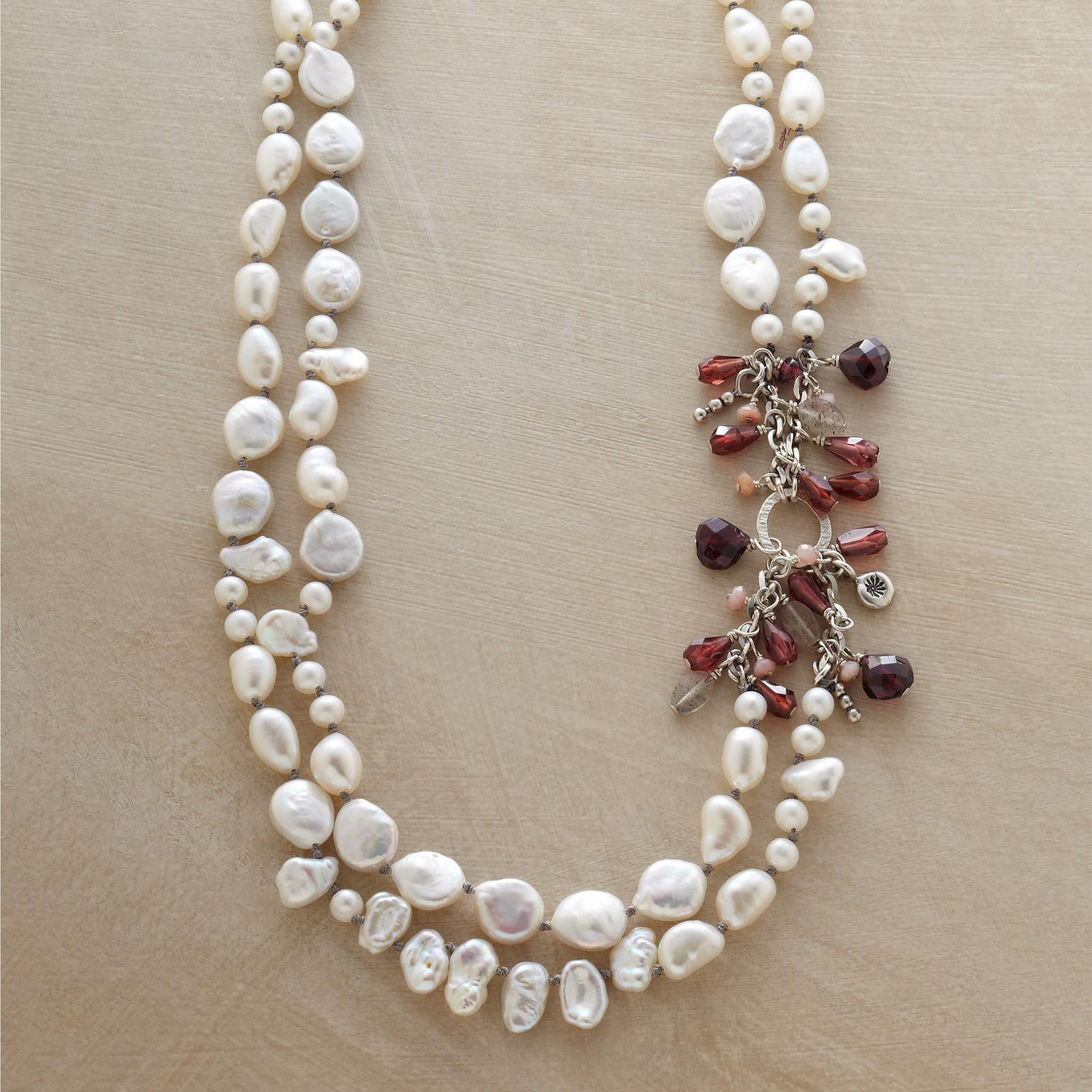 27eb3c80aee9d Double Strand Pearl Necklace | Robert Redford's Sundance Catalog