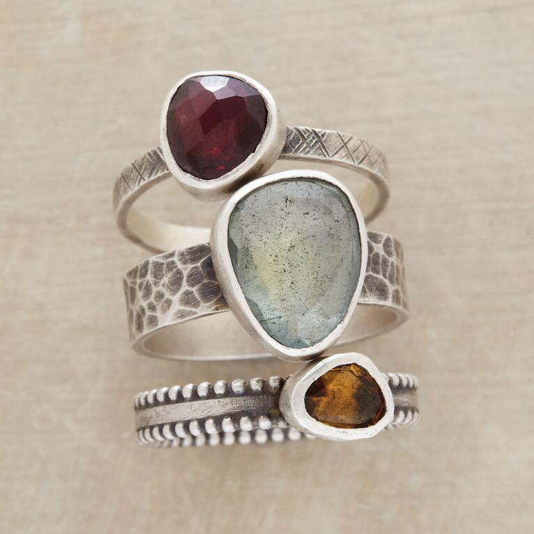 BAND OF BEAUTIES RINGS, SET OF 3