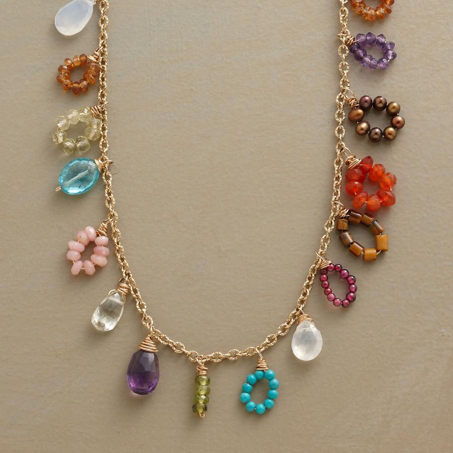 RAINBOW CLUSTER NECKLACE