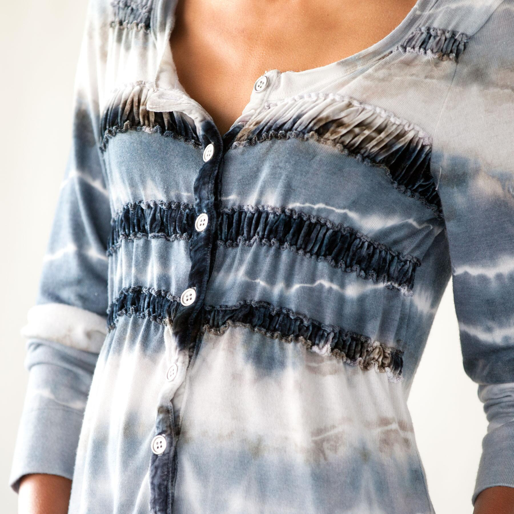 VELVET STRIPED CARDIGAN: View 3