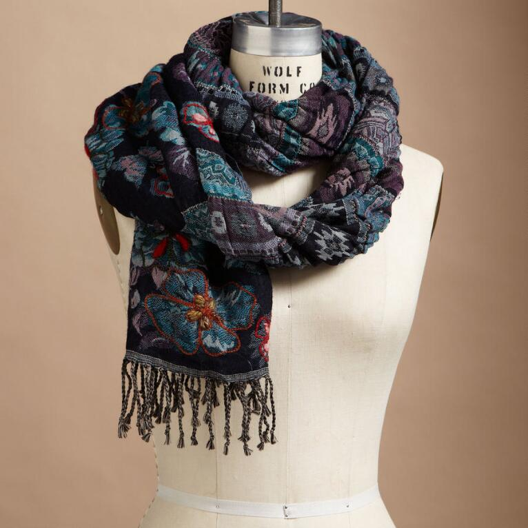 JAZMINA EMBROIDERED SCARF