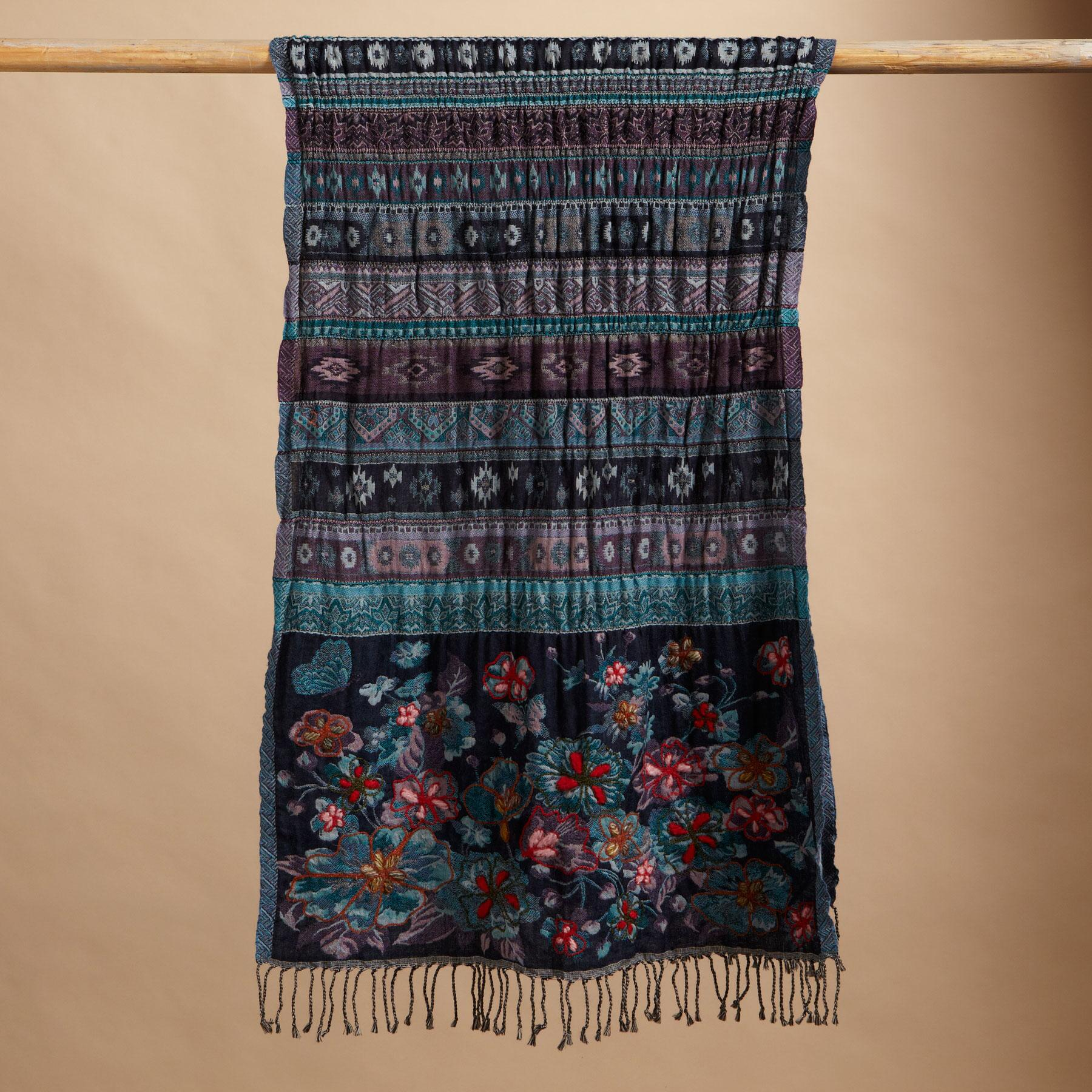 JAZMINA EMBROIDERED SCARF: View 2