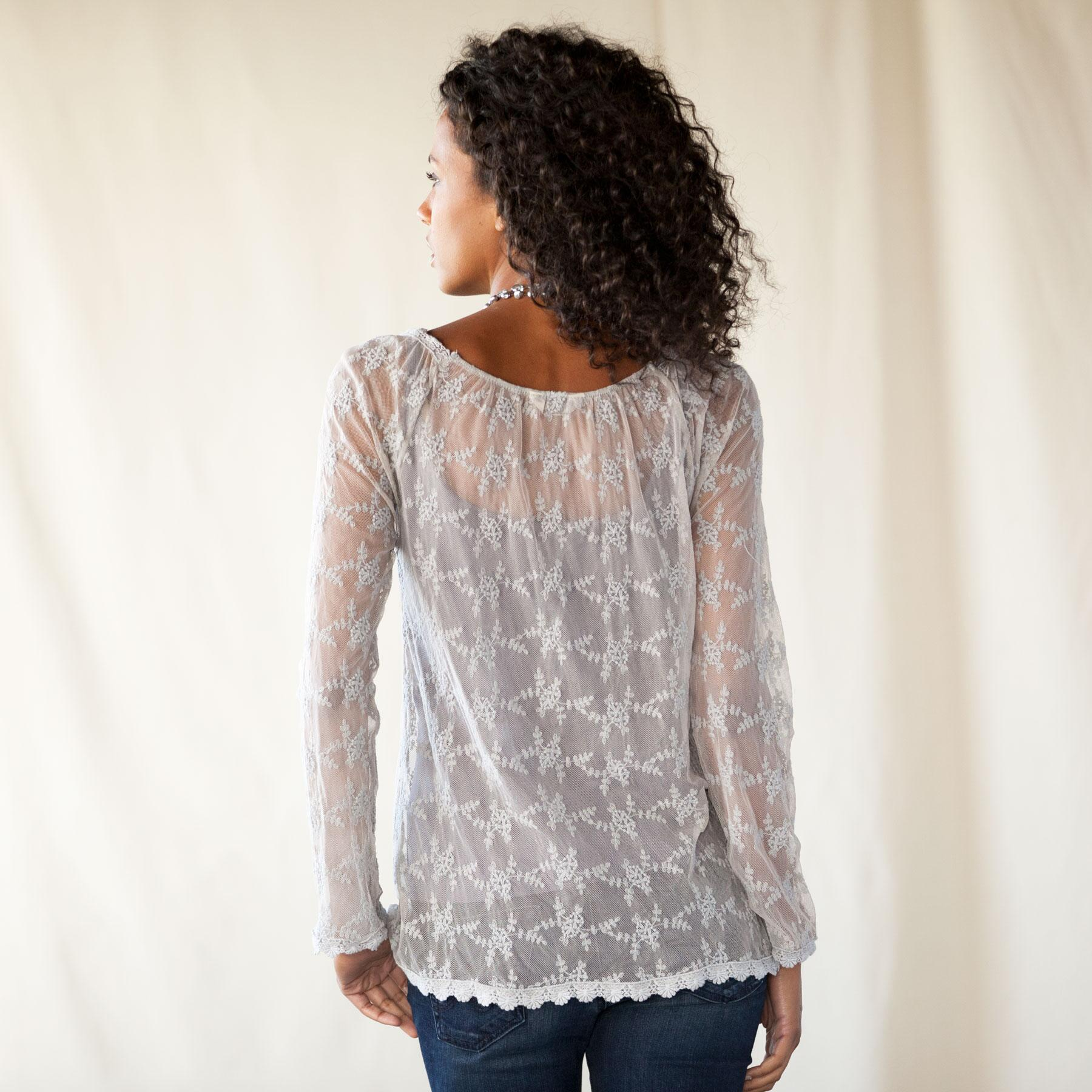 MOONMIST LACE TOP: View 2
