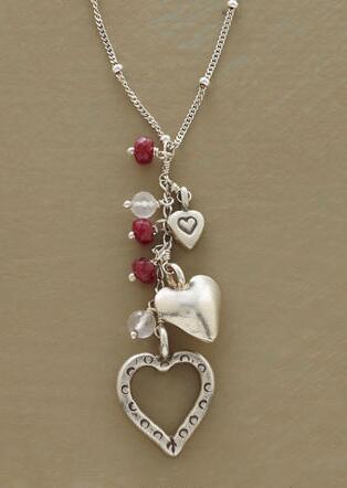 HEART TRIO NECKLACE