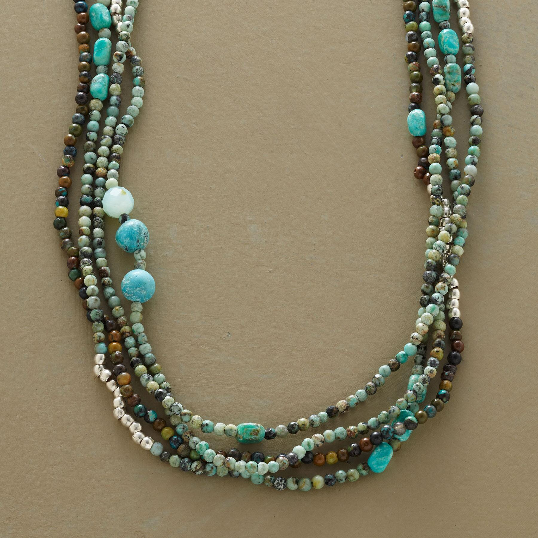 FOUR STRAND CARNIVAL NECKLACE: View 1