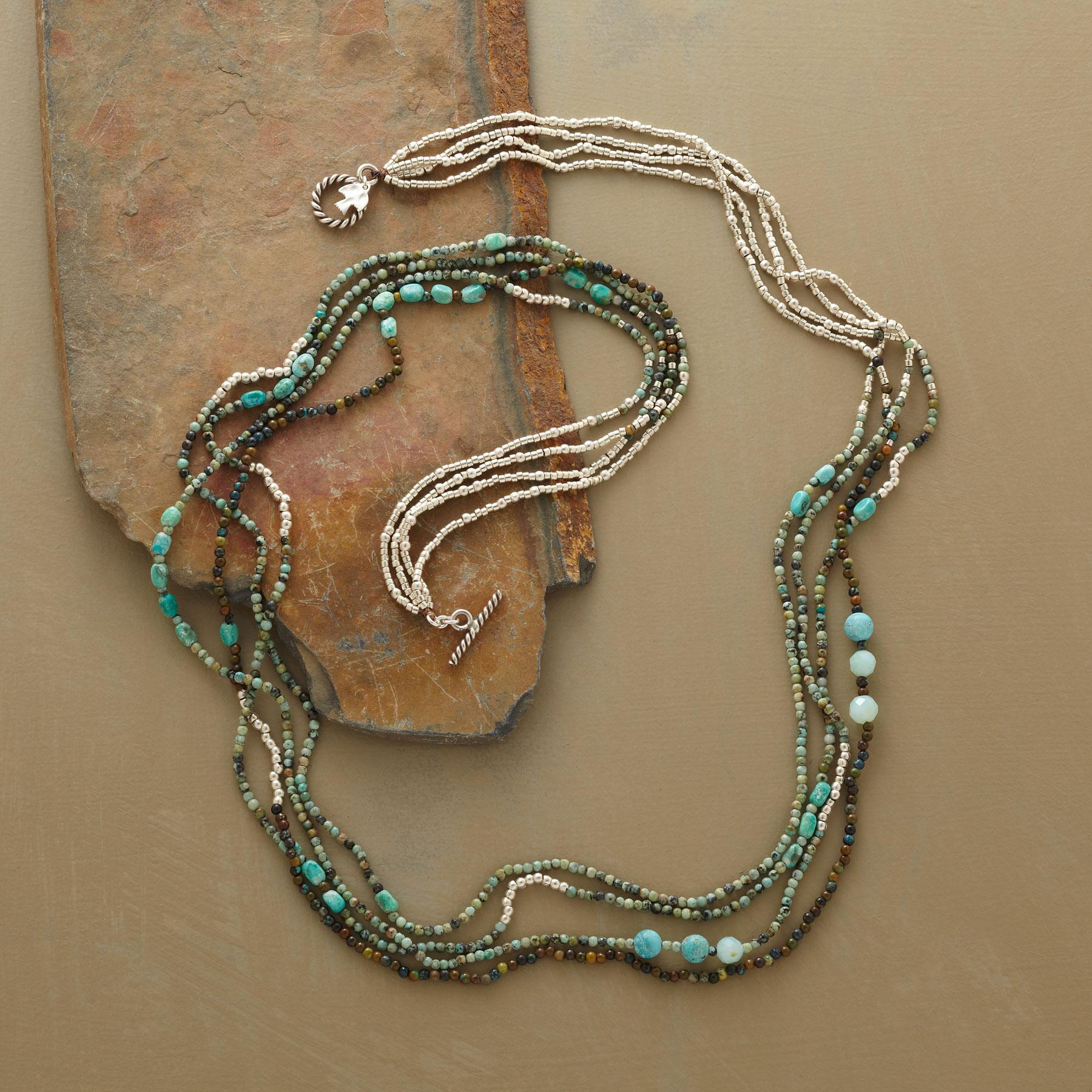 FOUR STRAND CARNIVAL NECKLACE: View 2