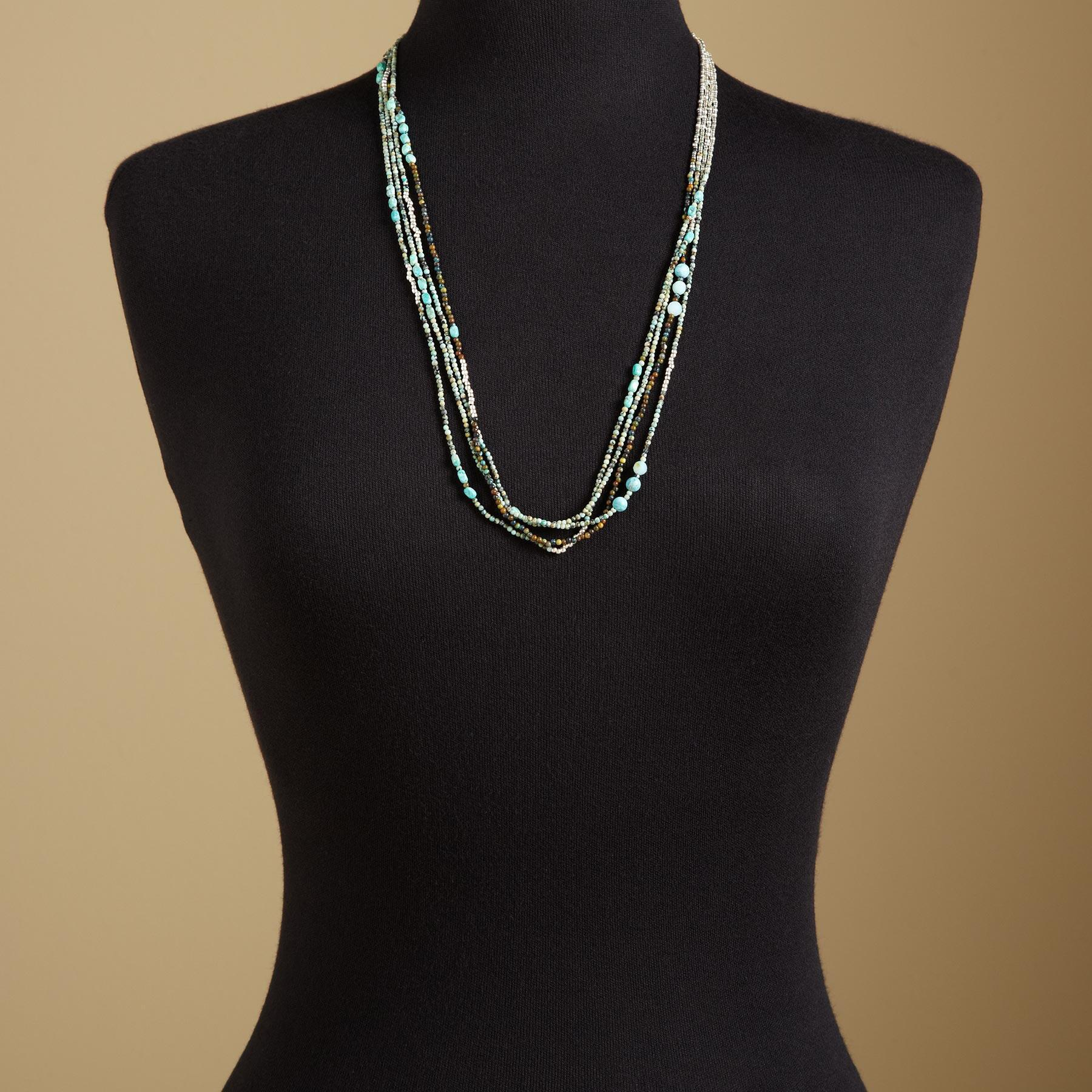 FOUR STRAND CARNIVAL NECKLACE: View 4