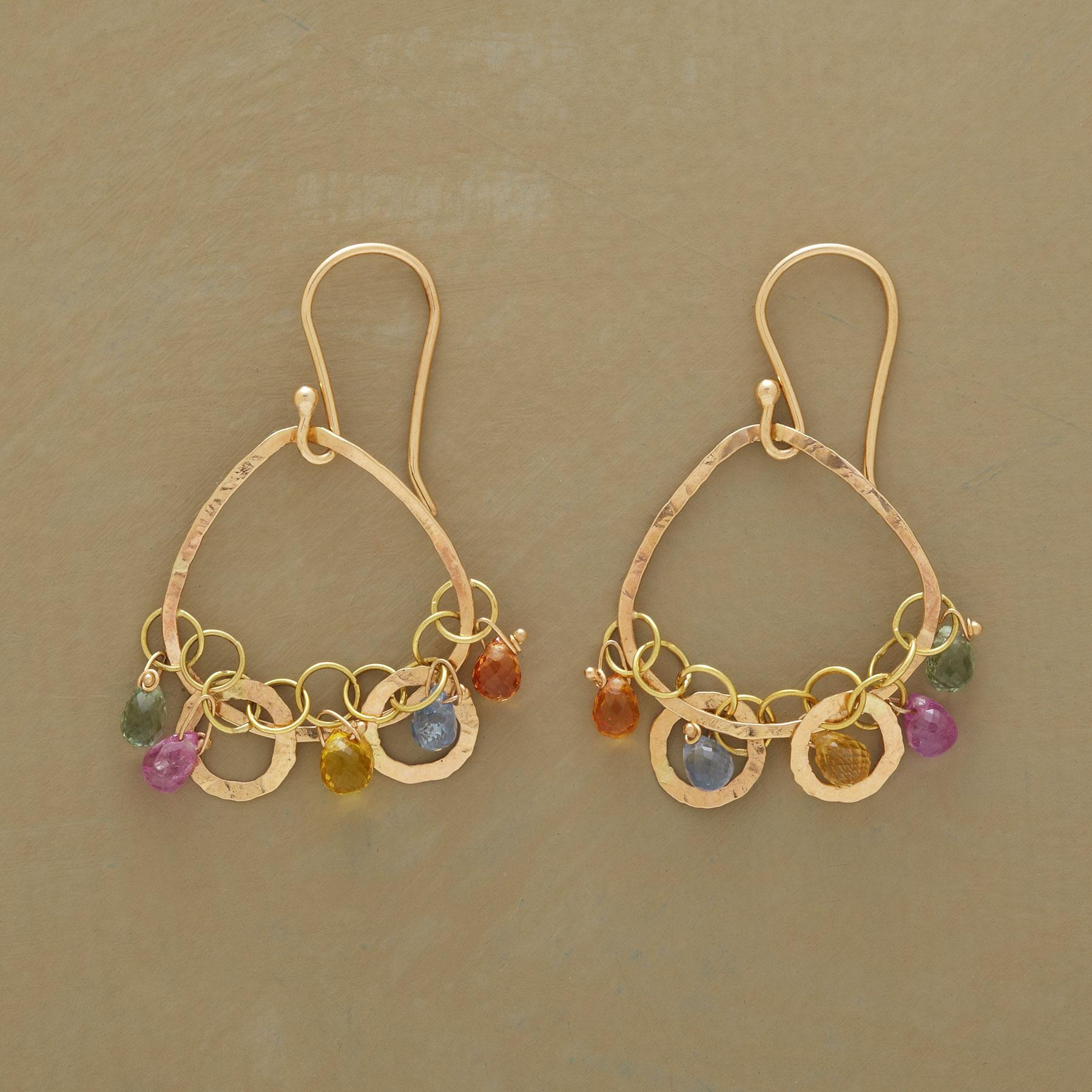 CHAIN OF SAPPHIRES EARRINGS: View 1