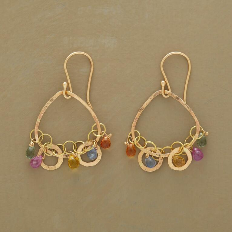 CHAIN OF SAPPHIRES EARRINGS
