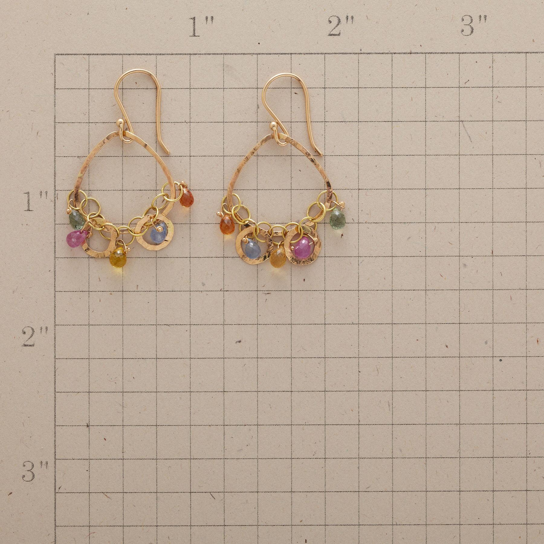 CHAIN OF SAPPHIRES EARRINGS: View 2