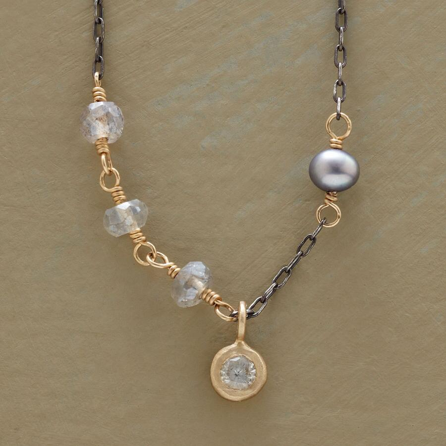 WHITE SAPPHIRE NECKLACE