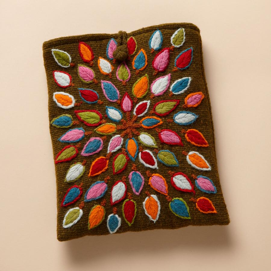 HAND-EMBROIDERED TABLET CASE