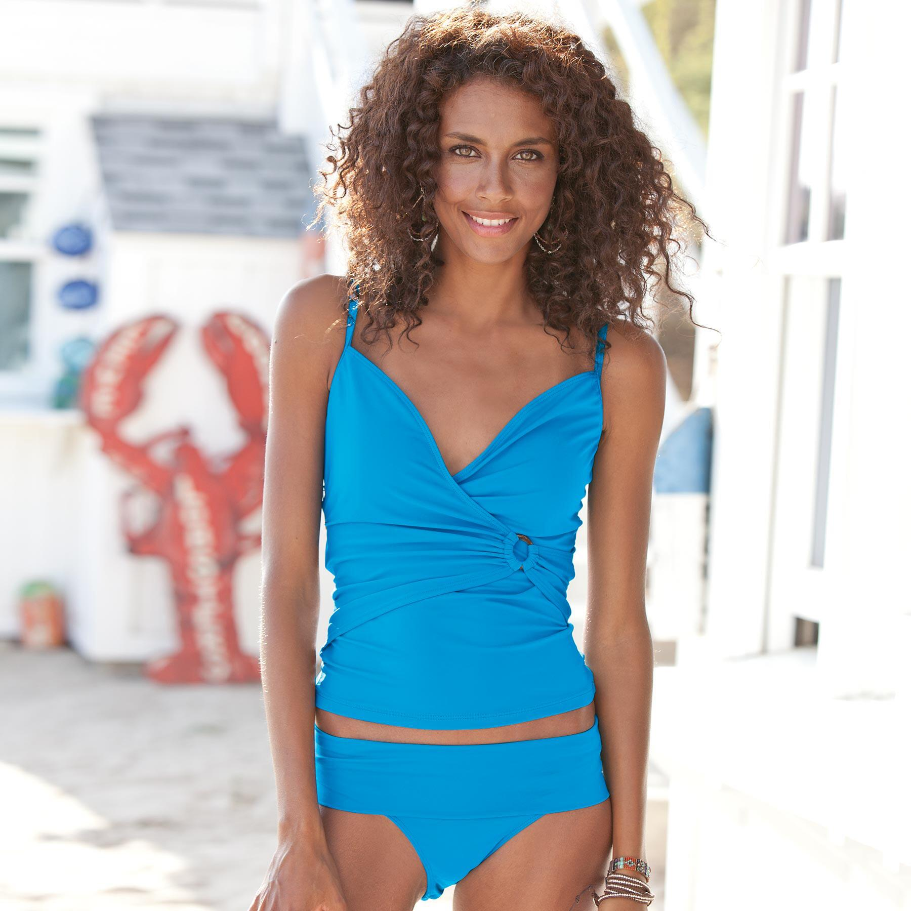 WRAP & ROLL TANKINI TOP: View 1