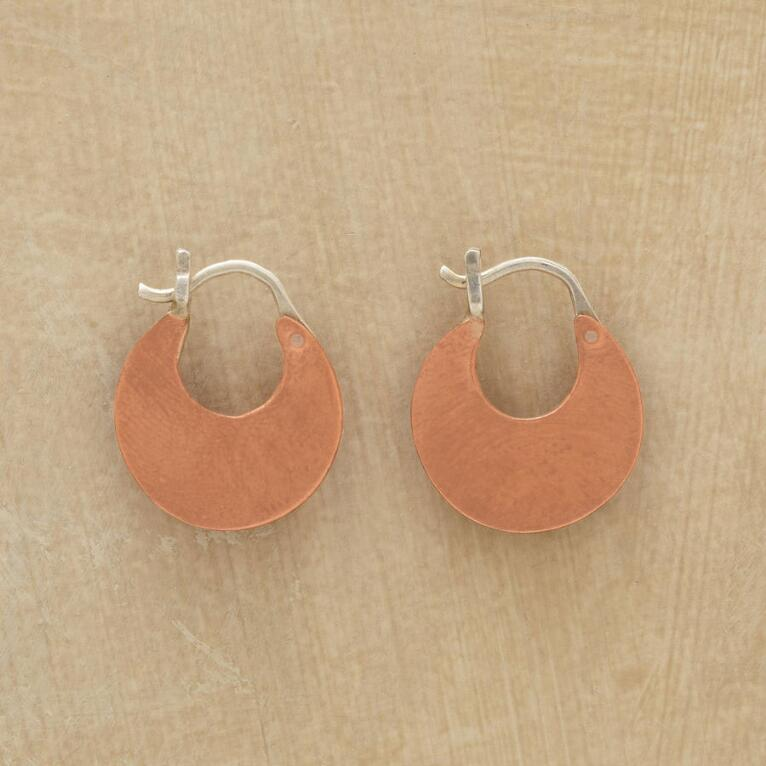 COPPER CRESCENT EARRINGS