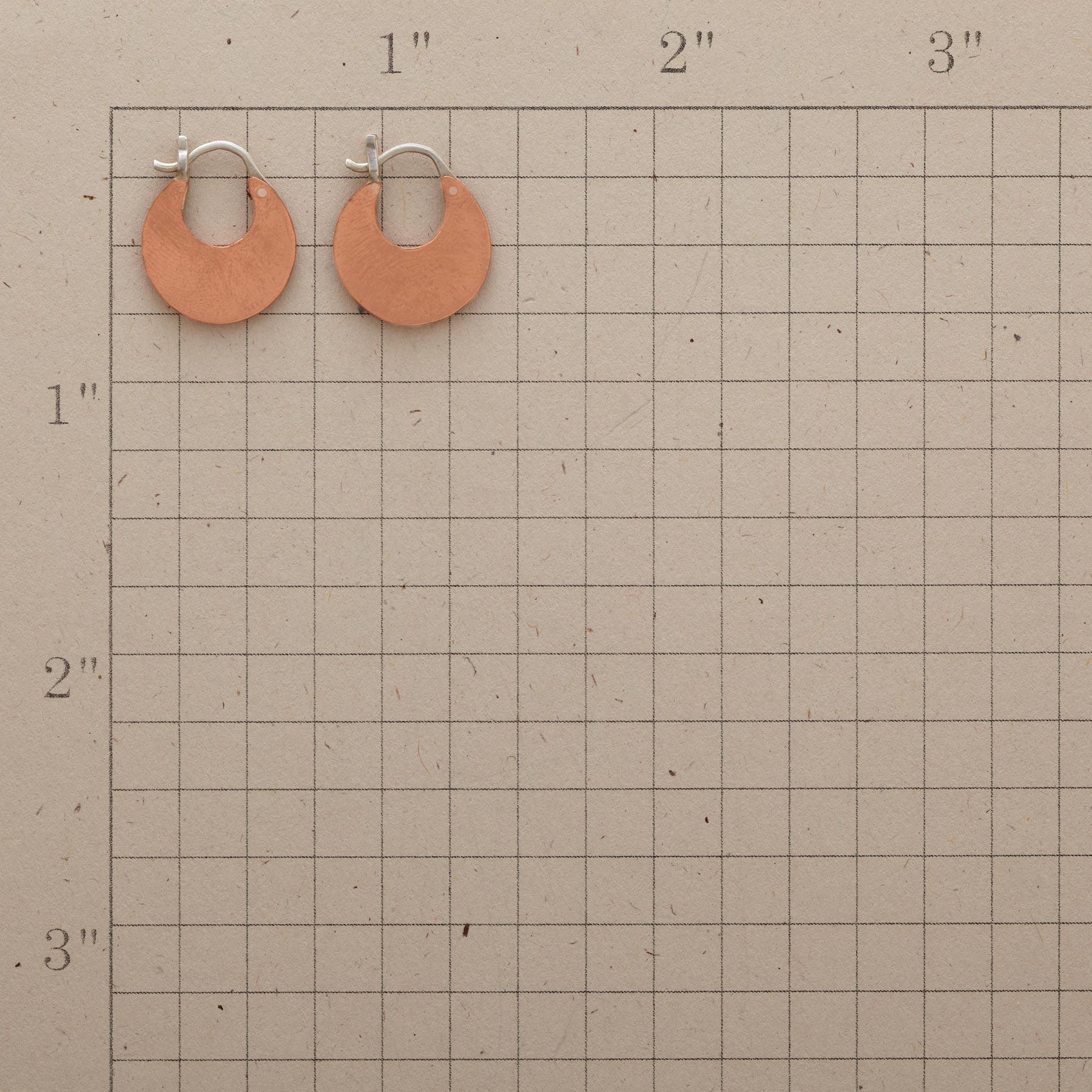 COPPER CRESCENT EARRINGS: View 2