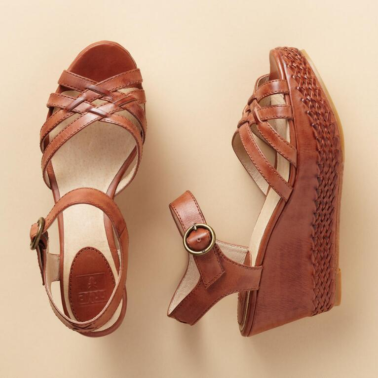 CARLIE BRAIDED PLATFORM WEDGES