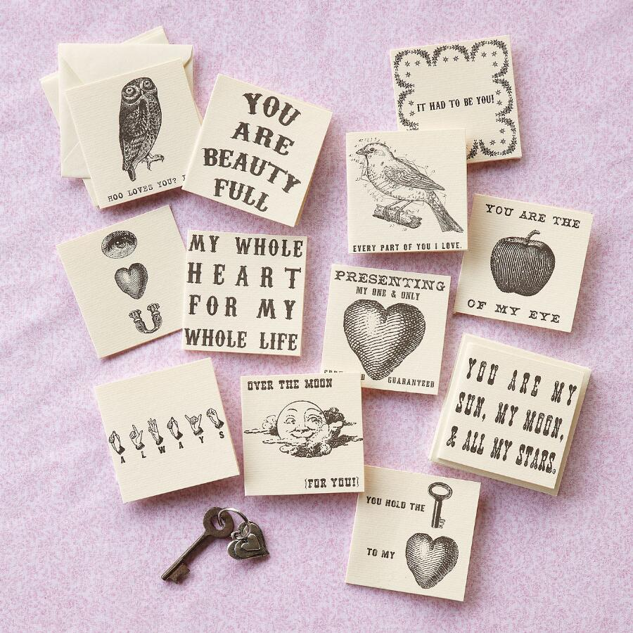 PITTER-PAT NOTECARDS, SET OF 12