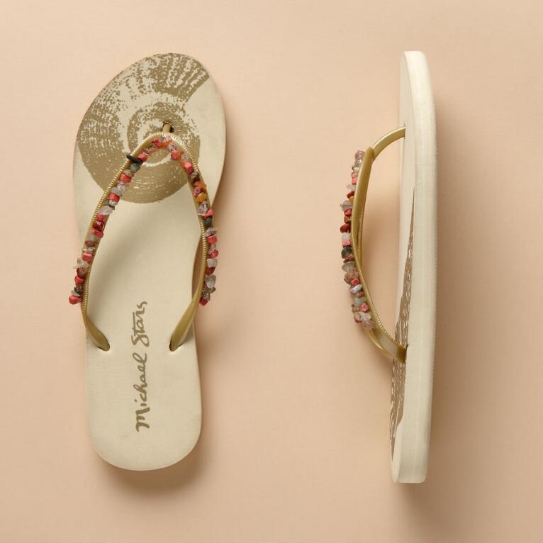 e692de77f2a113 BEADED FLIP FLOPS - Sandals - All Footwear - Shoes   Accessories ...