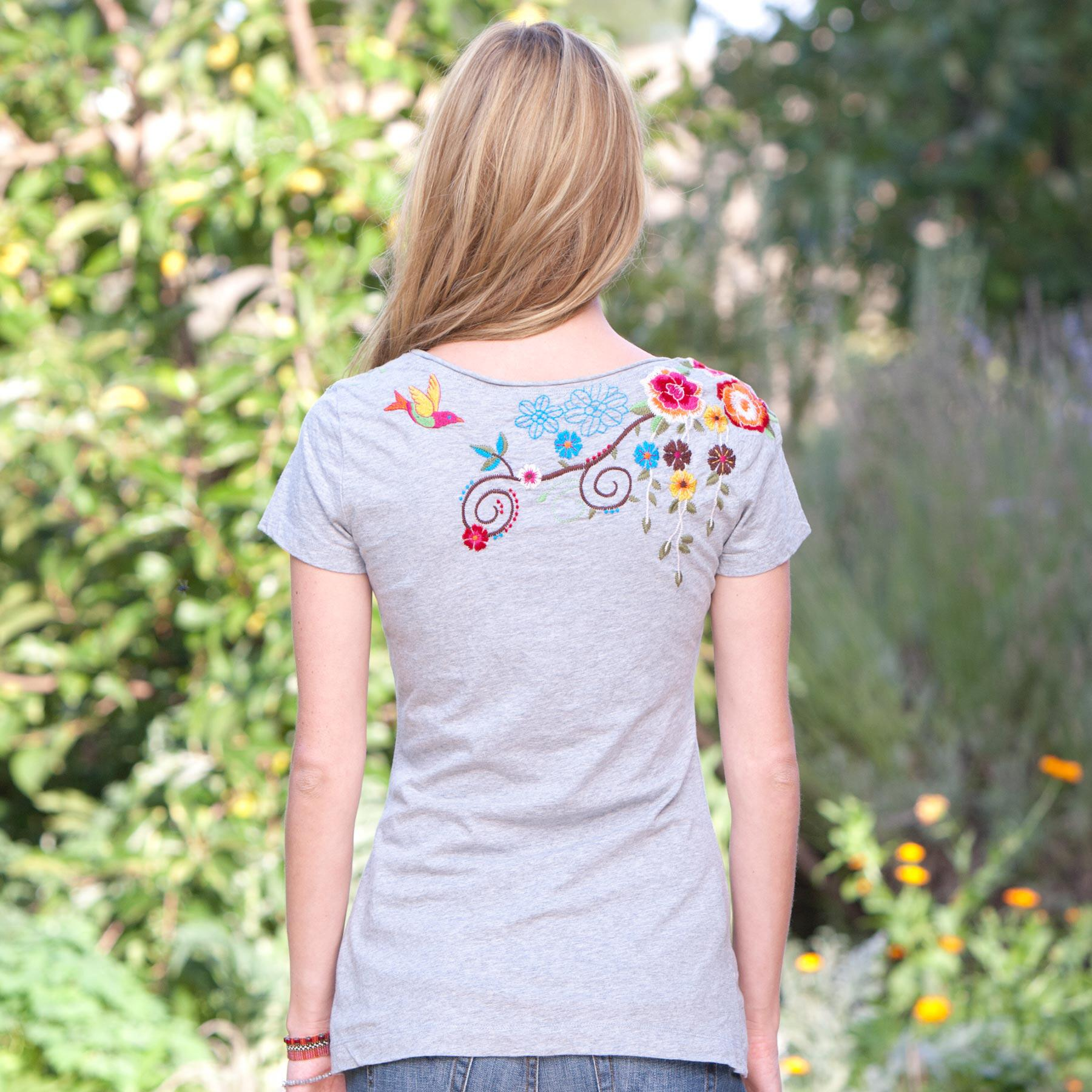 WILDFLOWER EMBROIDERED TEE: View 2
