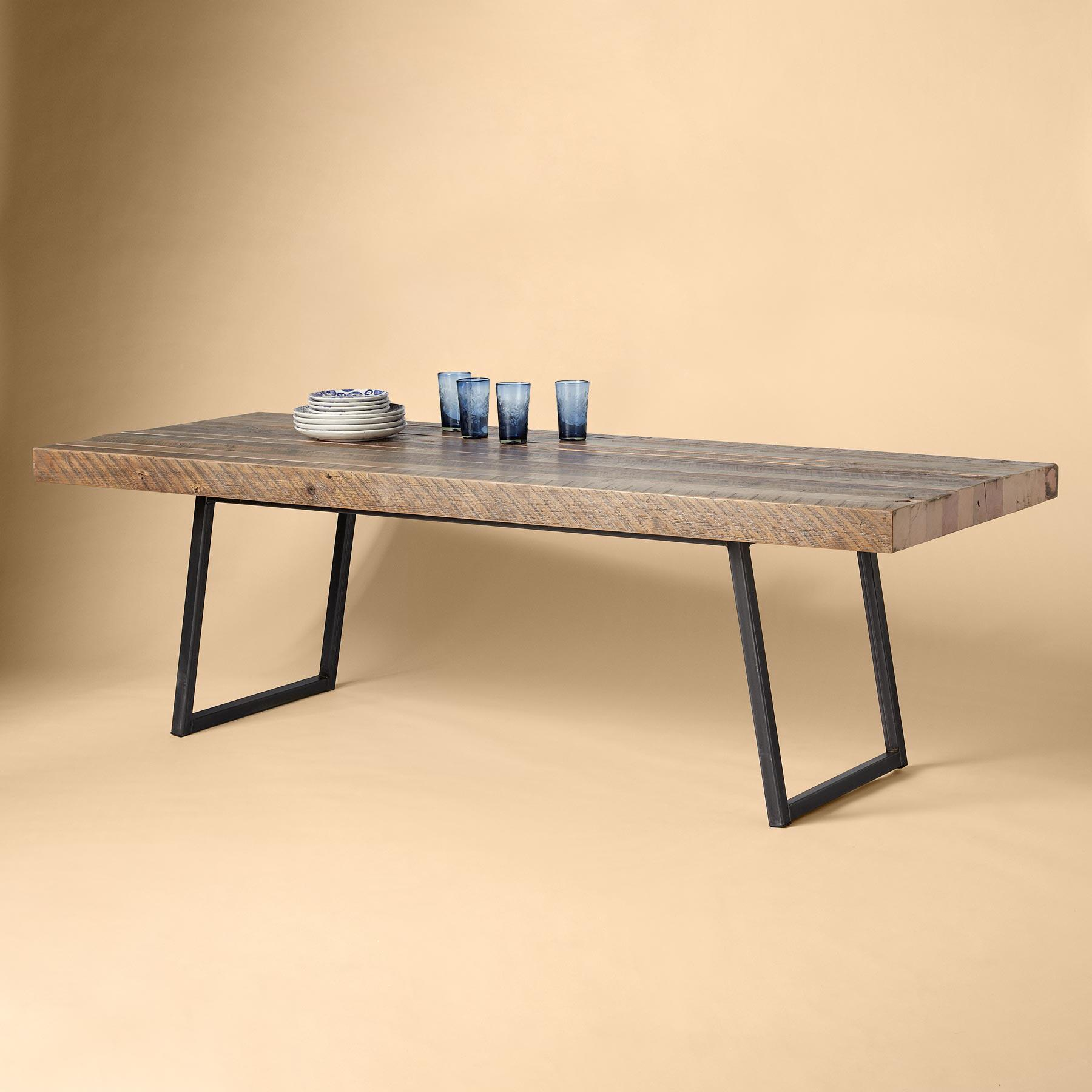 SOMA RECLAIMED PINE DINING TABLE: View 1