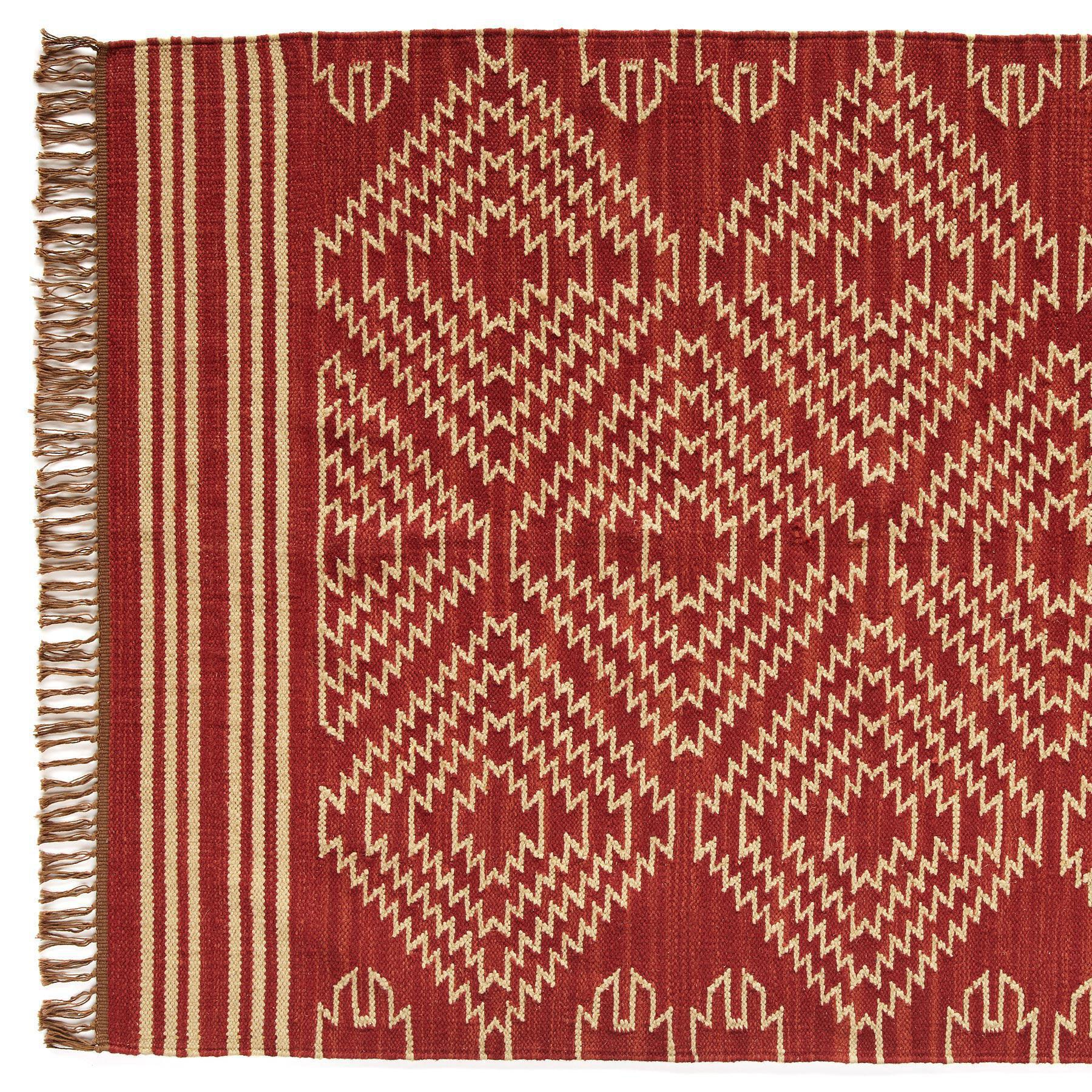 TRIBAL GRAPHIC DHURRIE RUG - LG: View 1