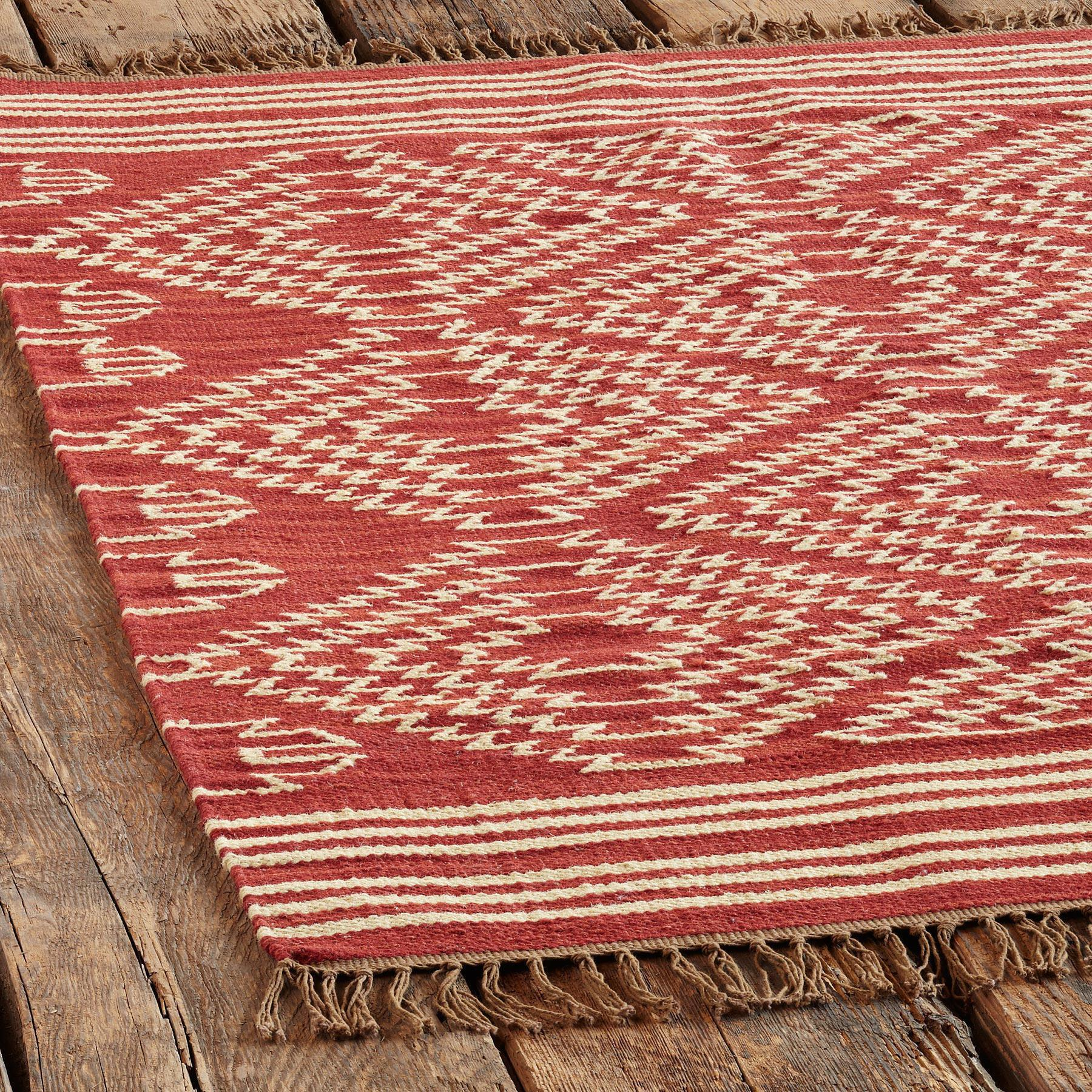 TRIBAL GRAPHIC DHURRIE RUG - LG: View 2