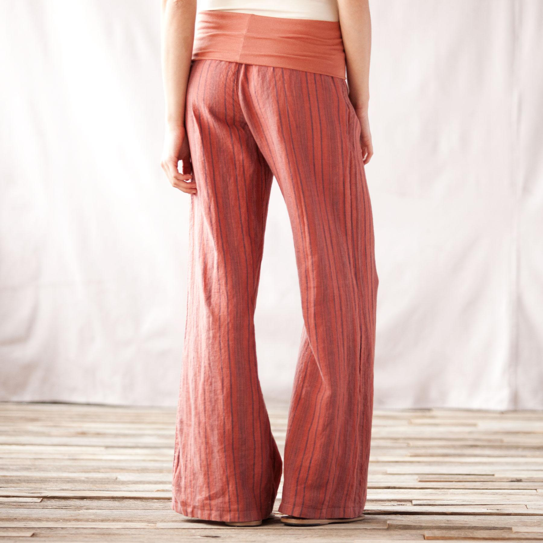 STRIPED LINEN PALAZZO PANTS: View 2