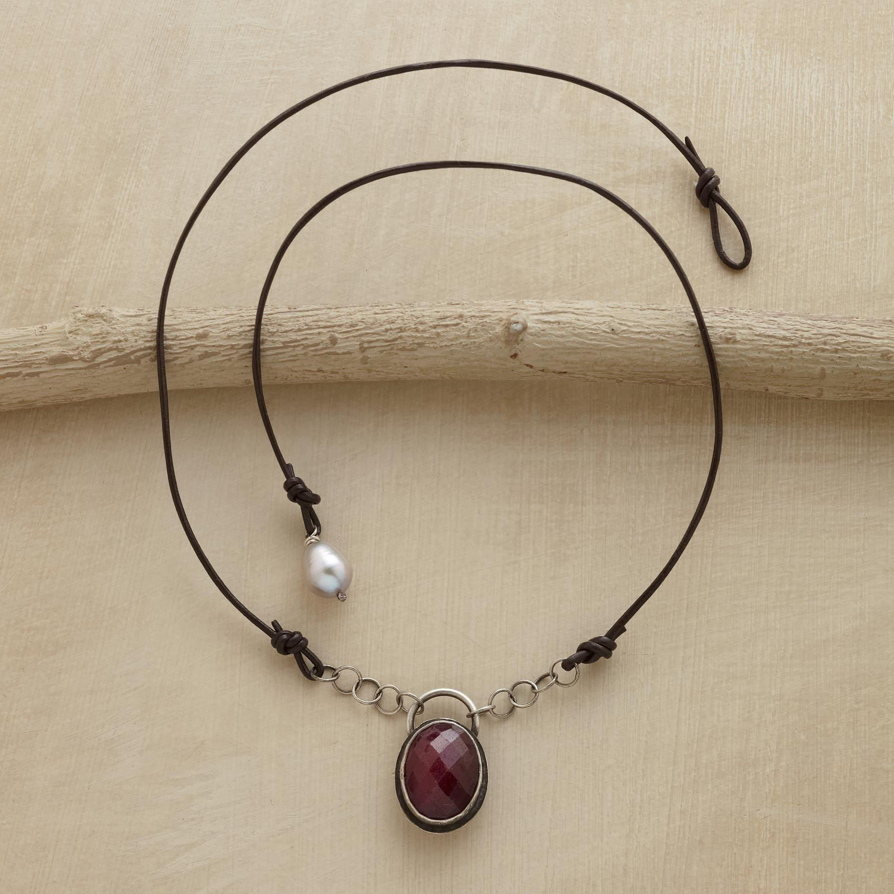 RUBY AMULET NECKLACE: View 2
